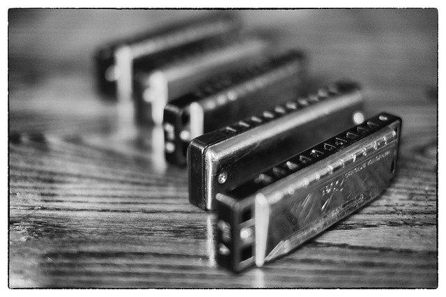 Dětská foukací harmonika